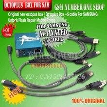100% Original nouveau boîtier octoplus/poulpe pour activation samsung pour réparation SAM et flash et déverrouillage + 5 câbles