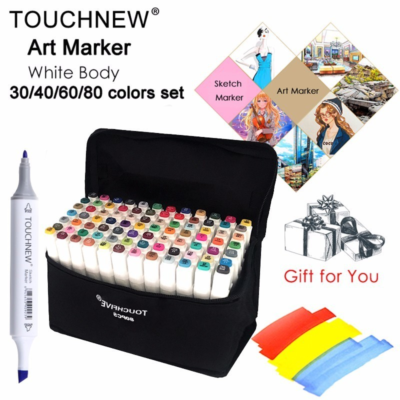 цены FINECOLOUR Artist Double Headed Sketch Marker Set 36/48/60/72 Colors Alcohol Based Manga Art Markers for Design Supplies