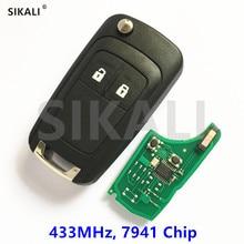 SIKALI 2 ボタンリモートキーオペル/ボクソール Corsa D 2007 2014 、 meriva で B 2010 2014 、 95507070 、 95507074