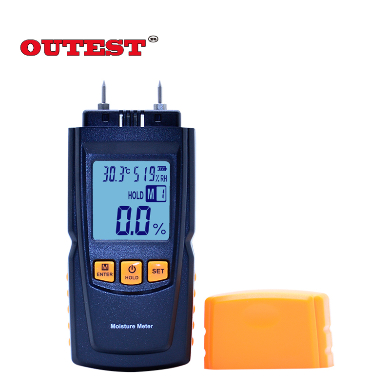 GM620 Digital LCD Display Wood Moisture Meter 2~70% Humidity Tester Timber Damp Detector portable High Quality md918 digital 2 2 lcd induction wood moisture tester dark blue black 3 x aaa