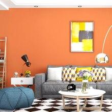 Modern Plain Wall Papers Solid Color Orange Purple Wallpaper Home Decor for Kids Children Living Room Bedroom Walls papier peint