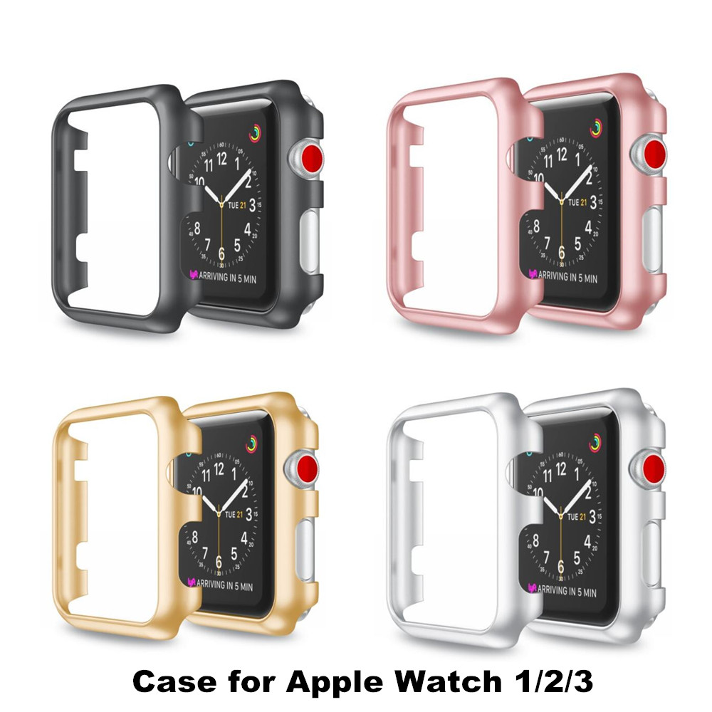 for Apple Watch frame Colorful PC Case Cover Protect shell Series 12 Series 3  iWatch 38 42mm Watch Accessories