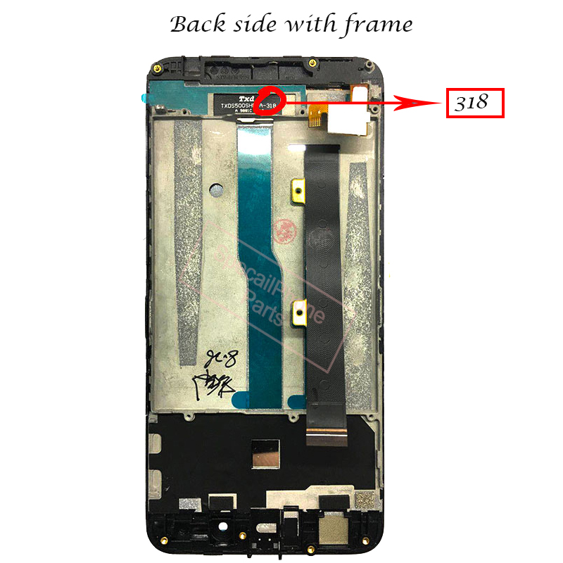 Image 3 - With frame For ZTE Blade A610 LCD Display Touch Screen HD Digitizer Assembly For ZTE Blade A610/A241 Version 318 Version Lcd-in Mobile Phone LCD Screens from Cellphones & Telecommunications