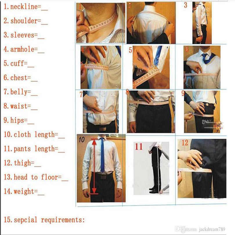 حار التطريز تزيين والتطريز الطباعة السوداء مخصص البدلات الرسمية بدل زفاف بدلة العشاء (سترة + بانت)