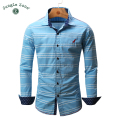 JUNGLE ZONE european size Men's Shirt 100% cotton Shirts Stripes shirt design Long Sleeve Mens shirts 2017 NEW FM101