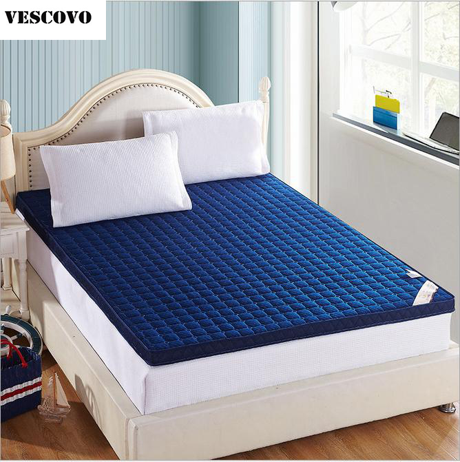 Materasso Memory Foam.Us 76 5 15 Off Vescovo Double Air Mattress Foldable Massage Materasso Quechua 3d Memory Foam Mattress Blue Beige In Bedding Sets From Home Garden