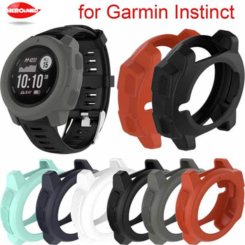 Silicone Protector Case for Garmin Instinct Sports Watch 360 Coverage Shell Protective Cases