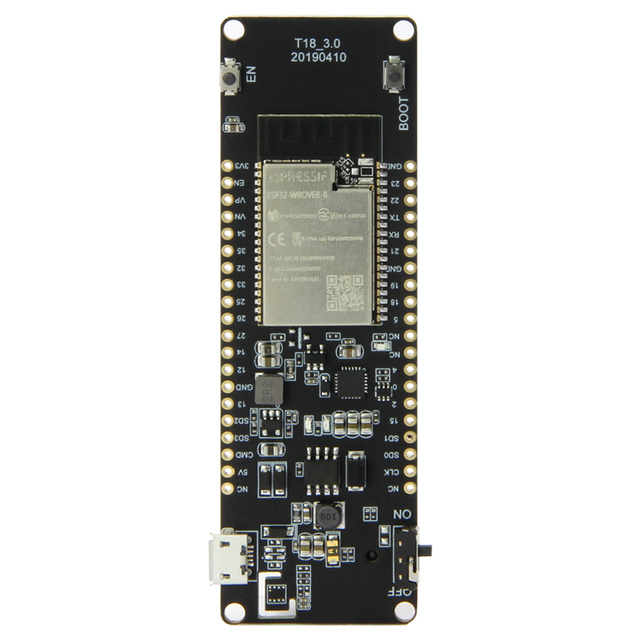 LILYGO® TTGO T Energy ESP32 8MByte PSRAM WiFi & Bluetooth Module 18650 Battery ESP32 WROVER B Development Board