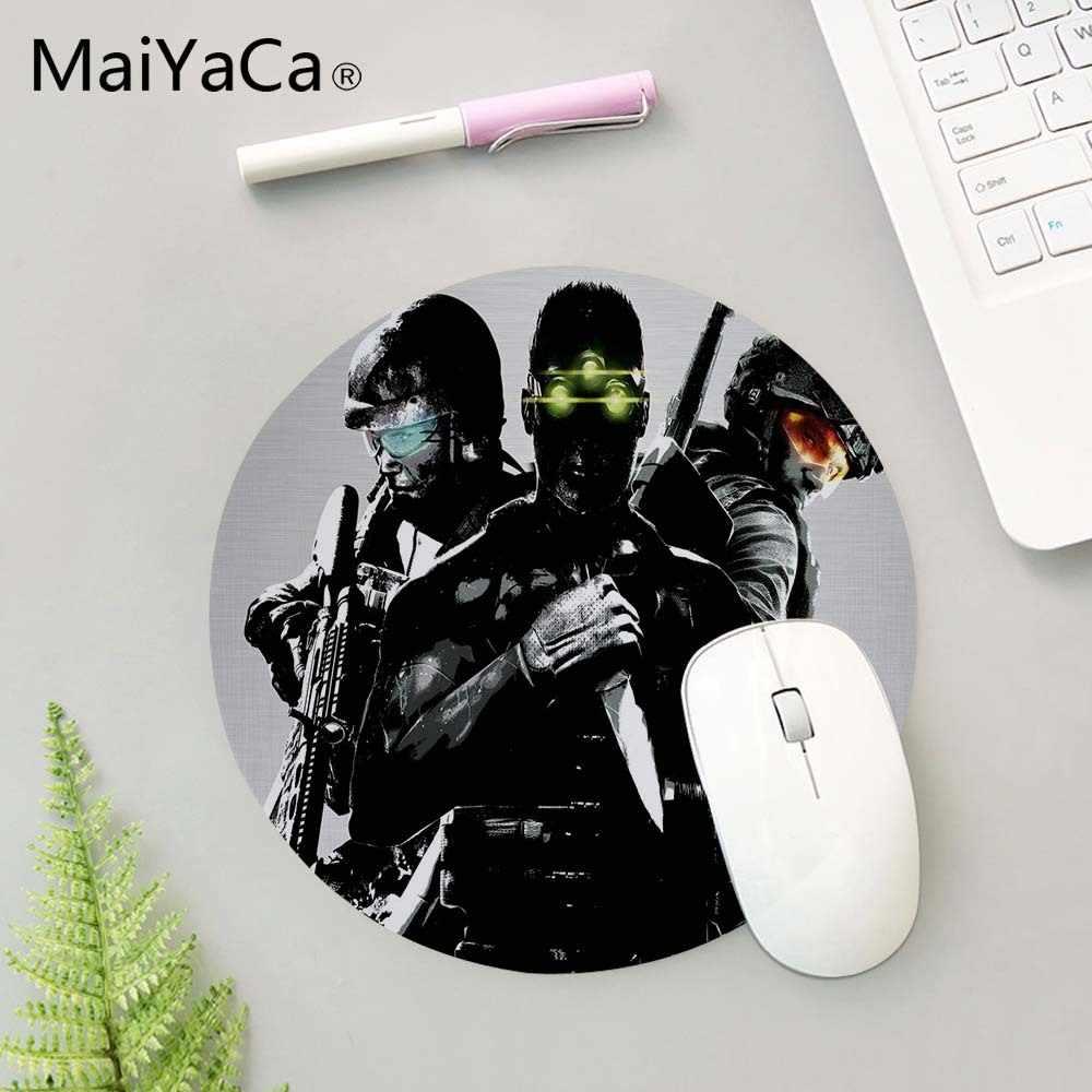 MaiYaCa Tom Clancy's Rainbow Six Siege Mouse Pad Custom Design Silone Round  Me Mat Large amer Anti Slip pc Mousepad Desktop Pads