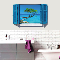 NEW Large 3d Cosmic Mediterranean Sea Wall Sticker Star Home Decoration For Kids Room Floor Living Room Wall Decals Home Decor 2