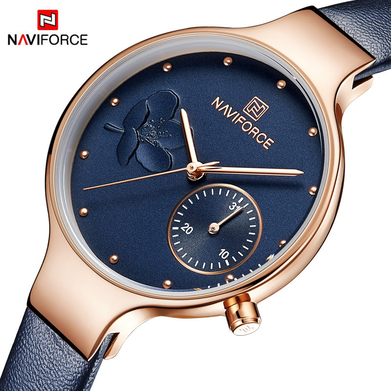 Top Brand NAVIFORCE Luxury  Women Watches Fashion Ladies Rhinestone Quartz Watch Waterproof Watch Simple Clock relogio femininoTop Brand NAVIFORCE Luxury  Women Watches Fashion Ladies Rhinestone Quartz Watch Waterproof Watch Simple Clock relogio feminino