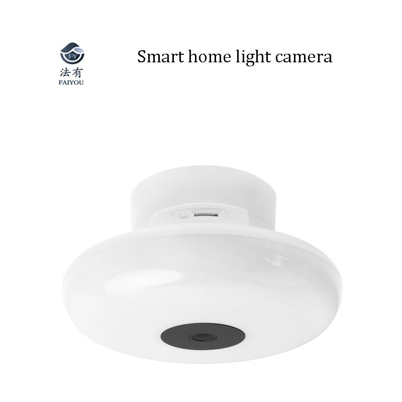 Big Sale£Light Panoramic-Camera Wifi-Bulb Home-Radar-Induction CCTV Smart IR Intercom Fish-Eye