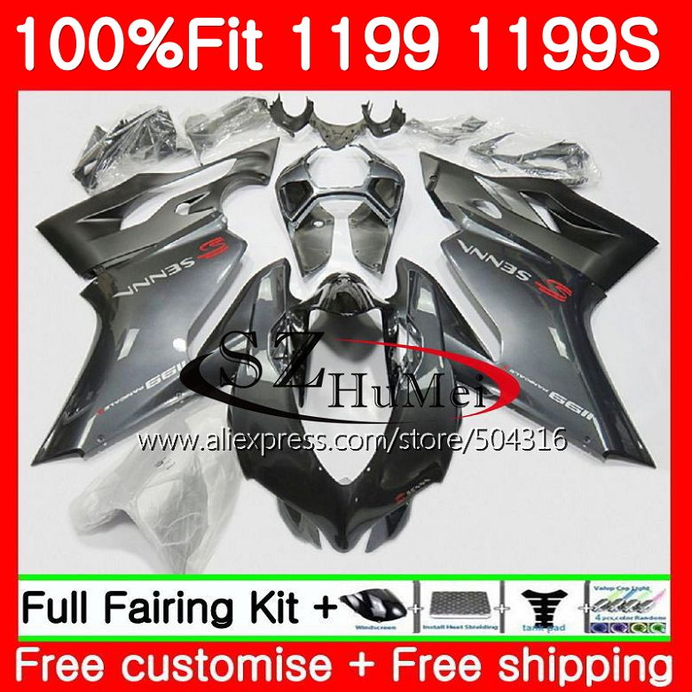 Injection For DUCATI Silvery grey 1199R 1199 S 1199 R Panigale 11 96MC.4 1199S 12 13 14 15 1199 2012 2013 2014 2015 Fairings kit