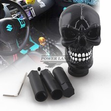 цена на Car Styling Modified Skull Head Gear Shift Knob Auto Gear Racing Manual Auto Black Shift Knob Shifter Lever Resin Universal Fit