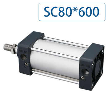 Free shipping SC80x600 Series Single Rod Double Acting Pneumatic Bore 80 Strock 600 Standard air pneumatic cylinder SC80*600 - DISCOUNT ITEM  12% OFF All Category