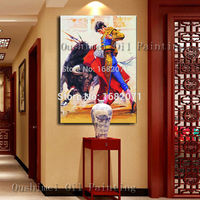 Christmas Unique Gift Hand Painted Modern Large Bullfight Oil Painting on Canvas Pure Drawing Wall Artwork Home Decor Pictures