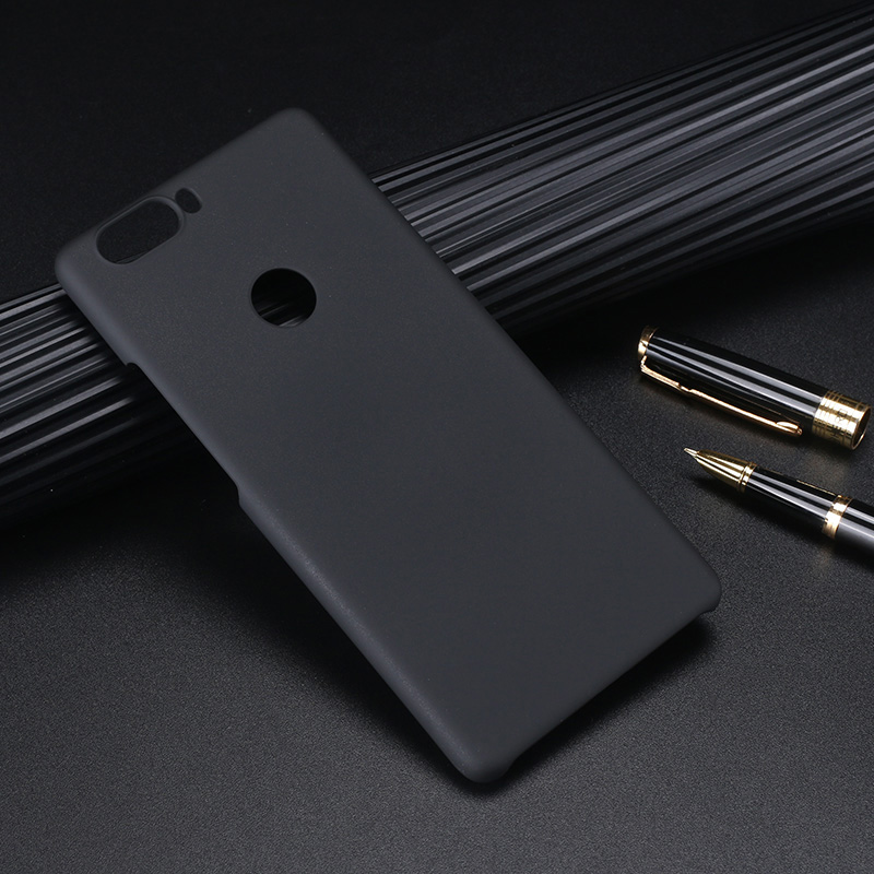 ZTE1359B_1_Pure Color Frosted Plastic Protective Case for ZTE Nubia Z17 Lite