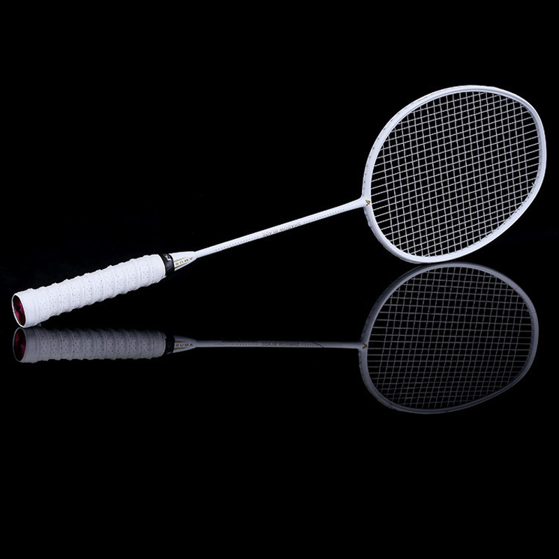 Graphite Single Badminton Racquet Professional Carbon Fiber Badminton Racket With Carrying Bag BHD2