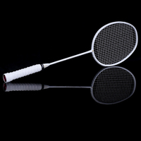 Graphite Single Badminton Racquet Professional Carbon Fiber Badminton Racket with Carrying Bag BHD2