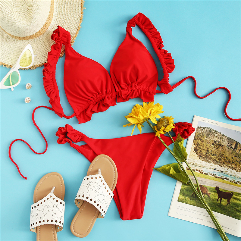 Sport Red Bikini Sets 22