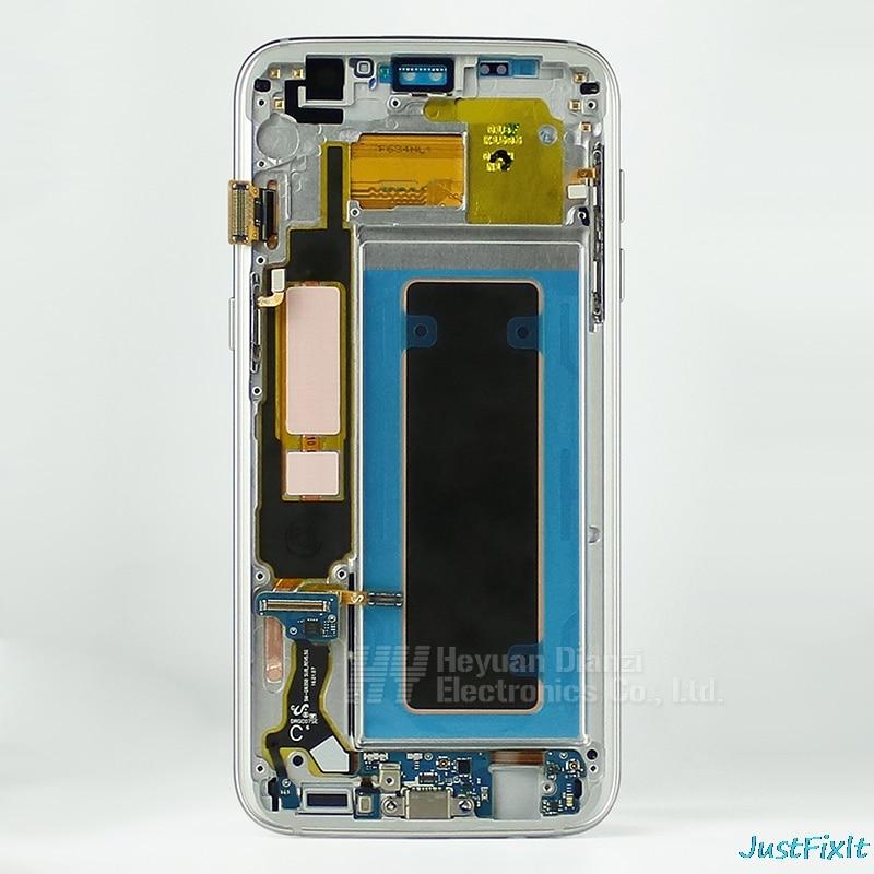 Lcd Touch Screen Digitizer Frame Voor Samsung Galaxy S7 Rand G935F G935FD Opladen Dock Kabel Home Button Met Back case - 3