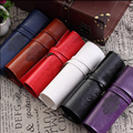 Twilight City Retro Leather Pencil Bag PU Leather Material Pencil Bag Make Up Stationery Package