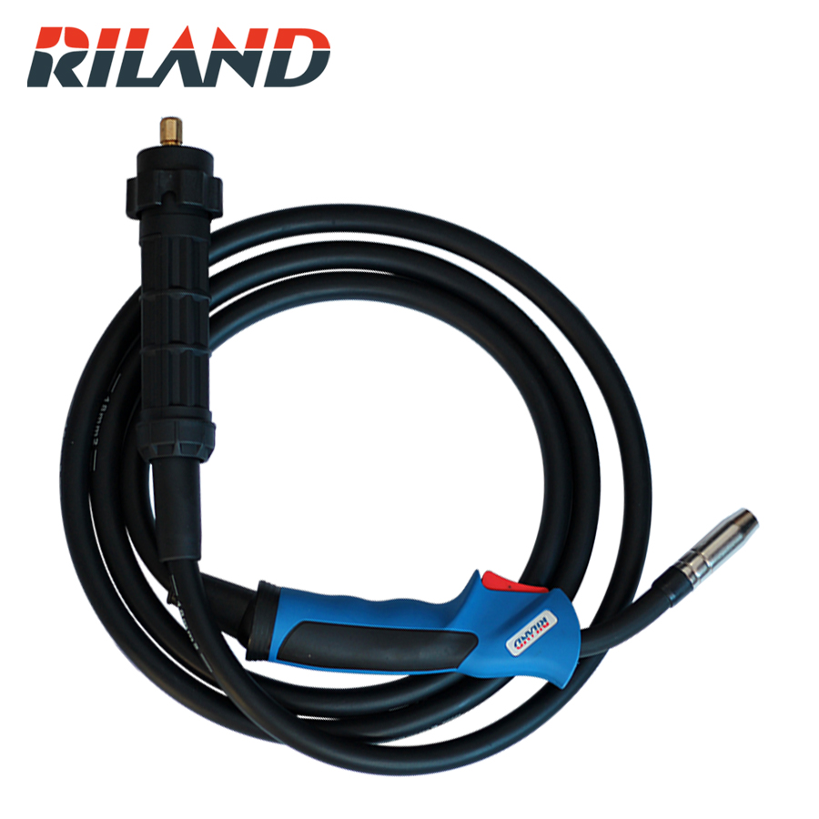 RILAND 3M MIG15 Guns Torch Mig Welding Torch for MIG Welding Machine Blue mig mag welding torch spool gun nbc 200 200a 3m without processor socket