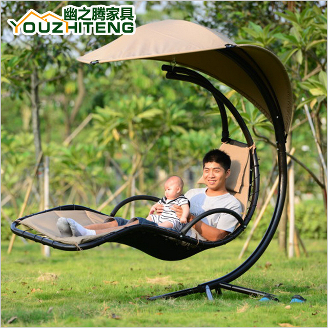 2015 New Arrive Metal Home Rocking Chair Outdoor Garden Swing Fashion Swing  Hanging Chair