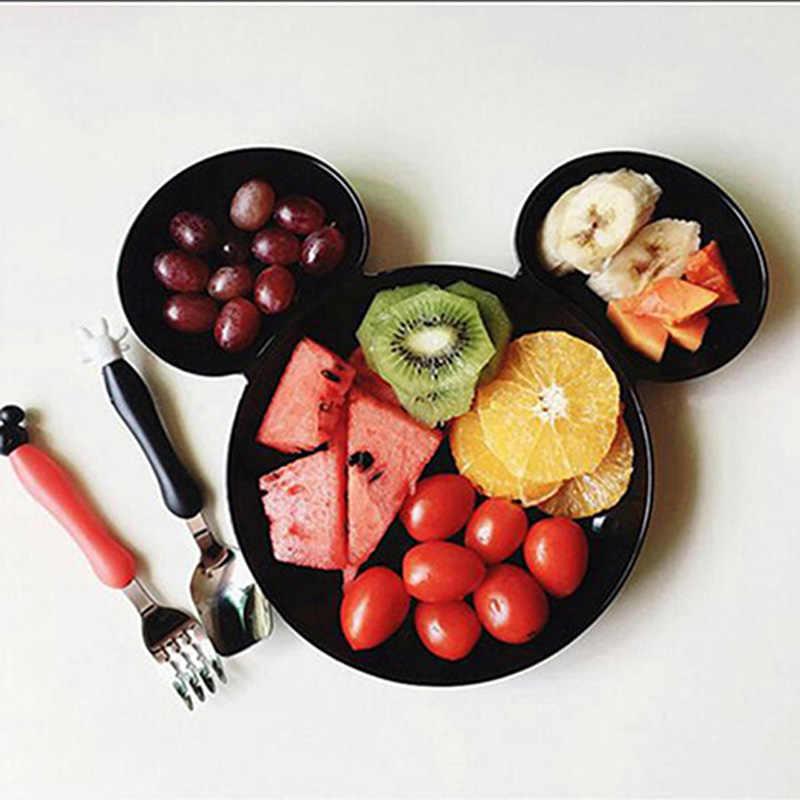 เด็กใหม่อาหารเย็นการ์ตูน Multi-grid เด็กทารกอาหารผลไม้รับประทานอาหารชามเด็กชุดอาหาร 1PC