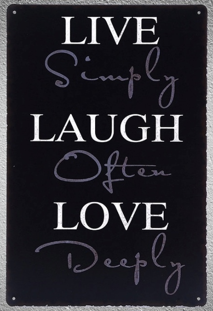 60 Pc Life Quotes Love Dream Laugh Live Tin Plate Sign Wall Plaques Fascinating Love Plaques Quotes