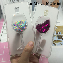 Glitter Quicksand Phone Cases for Meizu M2 Mini Case Bling Cute Srtars Cup With Soft Silicon Back Cover 3D Capa