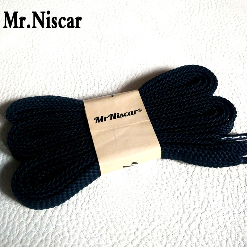 Mr.Niscar 1 Pair High Quality Sneaker Shoelaces Men Women Dark Blue Flat Shoe Laces for Casual Sneakers String Rope high quality 1 pair right
