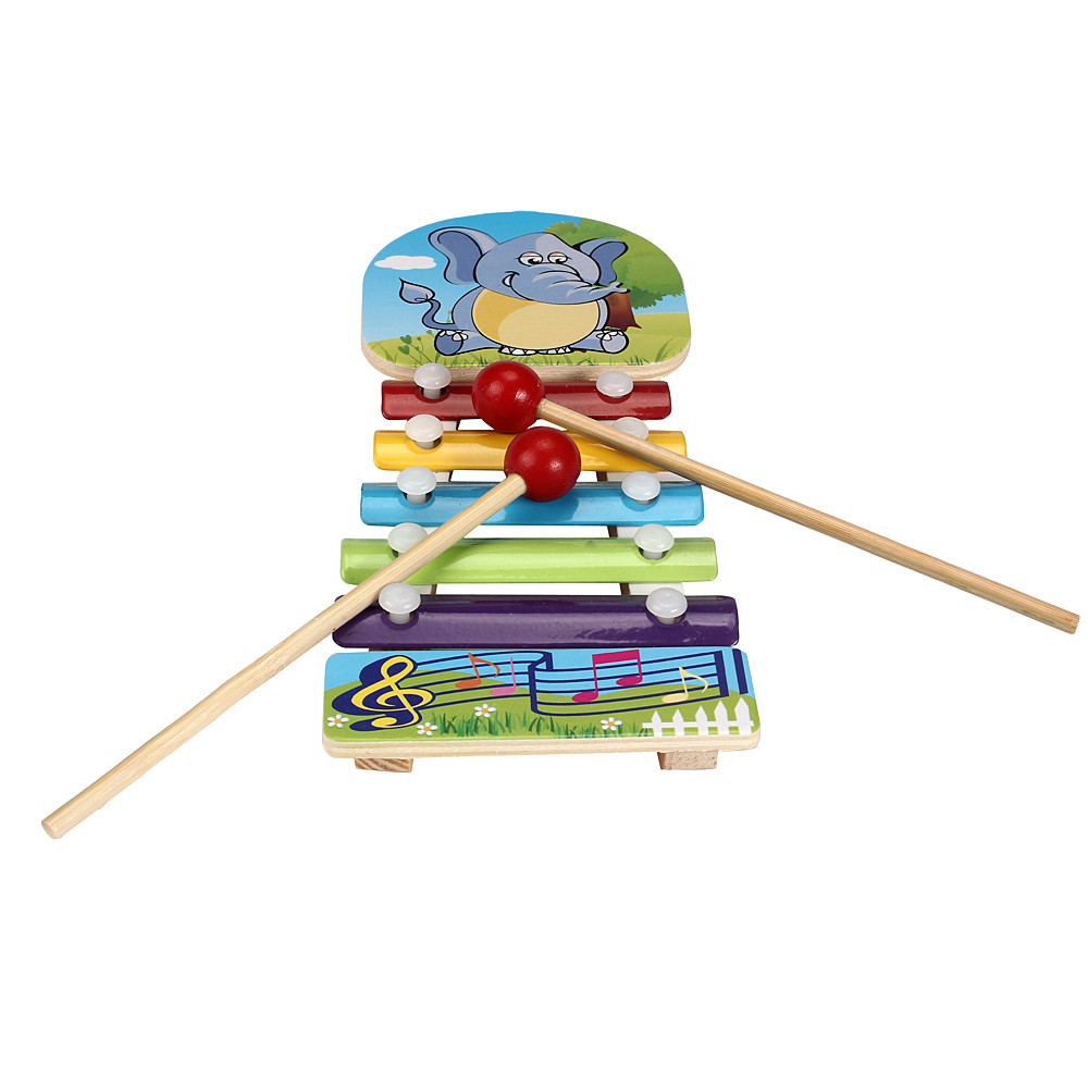 Wooden Musical Toys Teaching Aid Child Early Educational Wisdom Development Music Instru ...