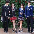 Uniforme niña de la escuela Marinero ropa para la escuela Secundaria uniforme de manga larga