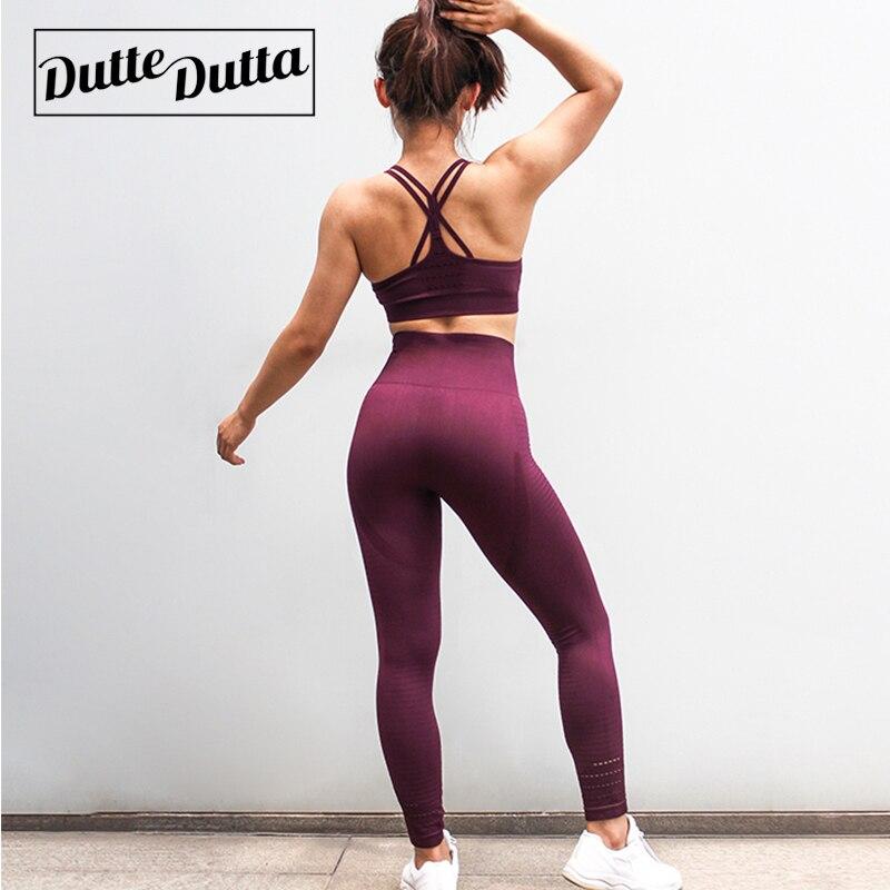 cca1e50e6822 2 Piece Set Women's Sports Suit For Woman Leggings Women Sport Wear Clothes