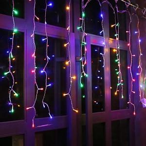 Image 3 - 3.5M LED icicle light string 220V 110V Christmas lighting holiday garden garland waterproof new year fairy decoration EU/US Plug