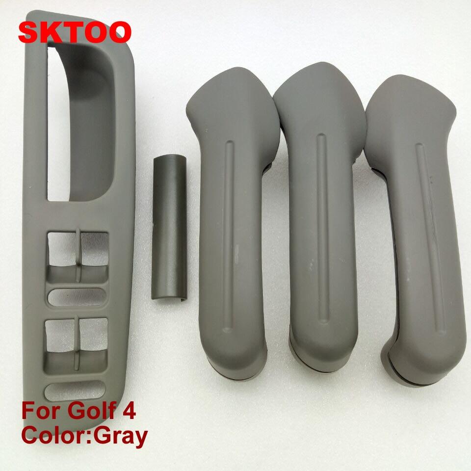 SKTOO 5db szürke belső ajtófogantyú ingyenes szállítás a VW / Jetta Bora Golf 4 ajtófogantyúhoz / belső ajtófogantyúhoz / belső kartámaszhoz