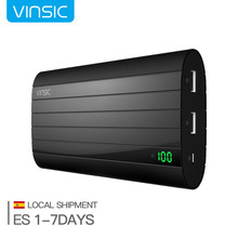 Vinsic 20000mAh Power Bank External Portable Battery Charger Dual USB for Iphone X 8 8 plus 7 Sumsung Xiaomi Extra Wall Charger
