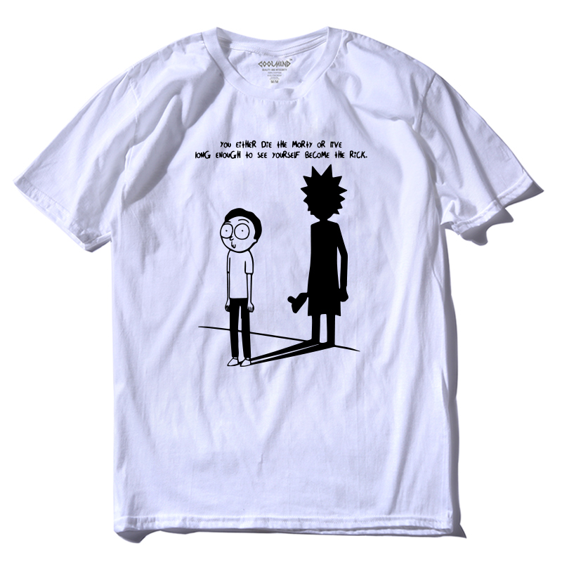 Morty Tshirt Short-Sleeve COOLMIND Printing Rick And Casual Fashion Summer 100%Cotton