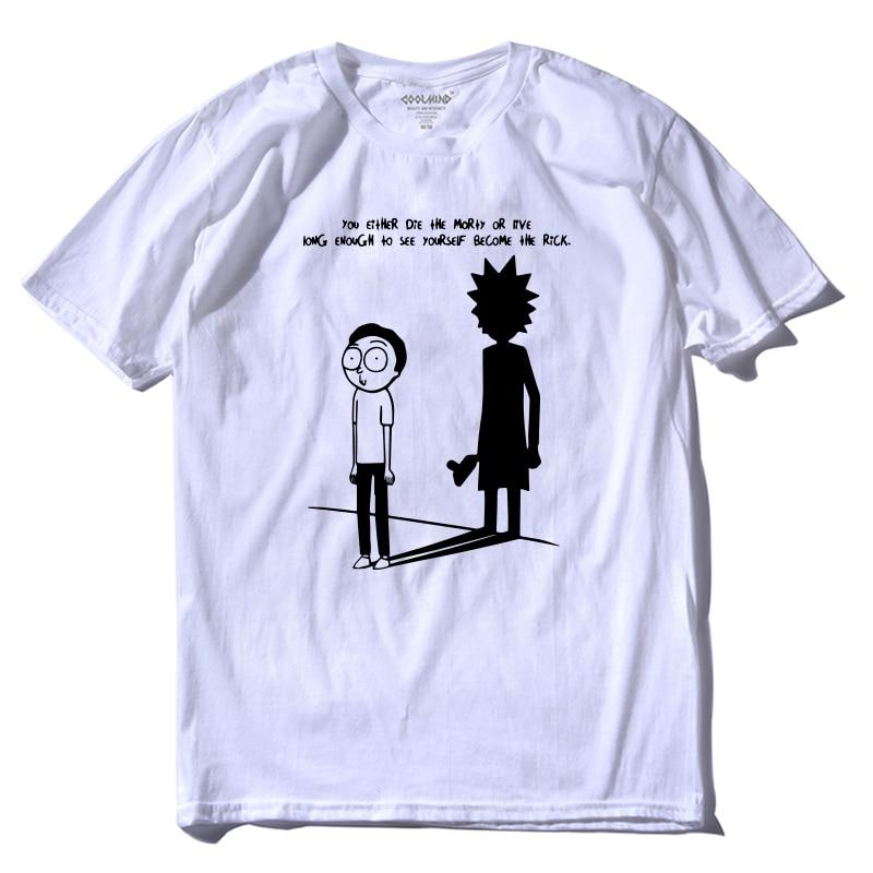 COOLMIND 2018 Short Sleeve 100% Cotton Rick And Morty Tshirt Casual Fashion T Shirt Printing Summer T-shirt Tee Shirt RI0129A