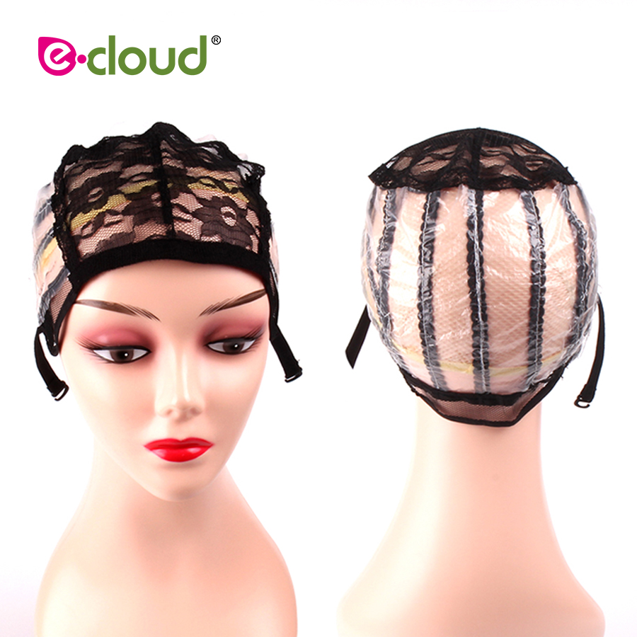 5pcs/Bag Free Size Black Lace Front Wig Caps For Making Wigs Hairnet With PVC Paper on t ...