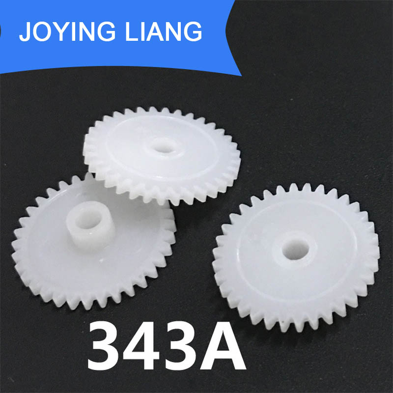 343A 0.5M 18MM Gear Modulus 0.5 34 Tooth Plastic Gear Toy Accessories 10pcs/lot