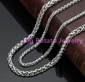 Low Price Wholesale 16-40inch 10pcs/lot 3/4mm Width 316L Stainless Steel Silver Unisex Rolo Box DIY Nacklace Chains Bulk Finding