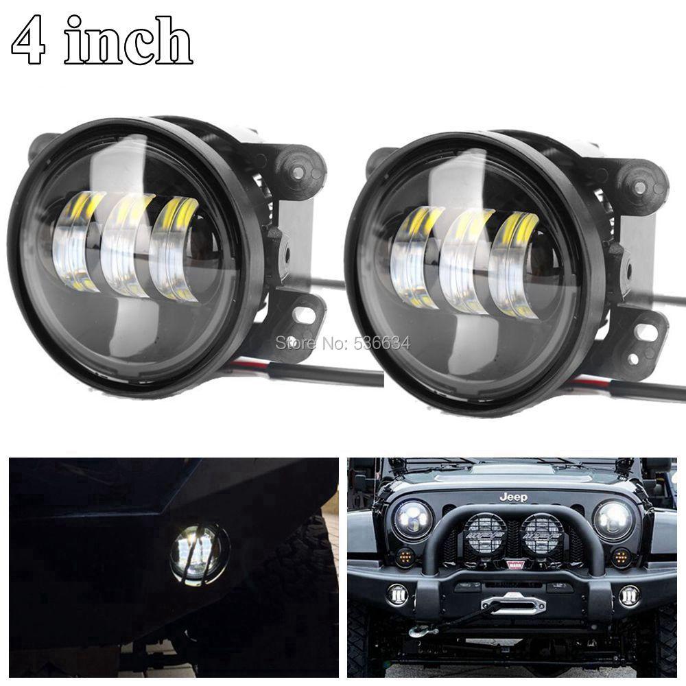 30 Вт 4 дюймов белые круглые светодиодные Противотуманные фары Дополнительный прохождение для Jeep Вранглер JK 2-дверный /путешествия Доджа , джипа Гранд Чероки
