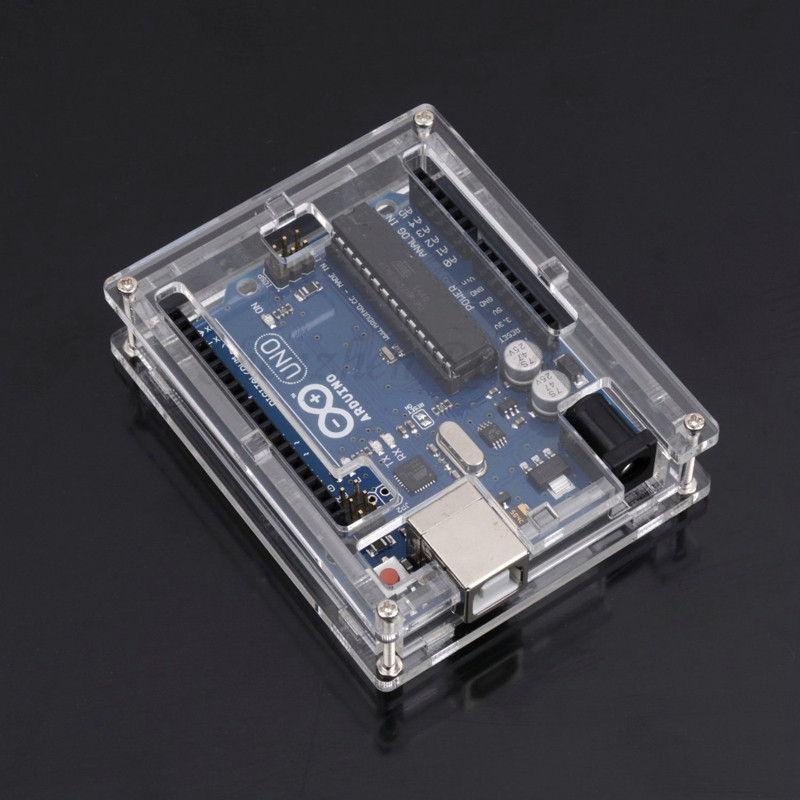 Uno MEGA328P Case Enclosure Transparent Acrylic Box Clear Cover Compatible with Arduino UNO R3 Diy Free Shipping DropShipping