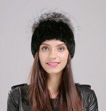 Женщины Hat Зимние Меховые Твердые Черные Шапочки Колледж Реального Норки Материала Повседневной Жизни Молодых Турфирмы Магазины Hat EA4050-24