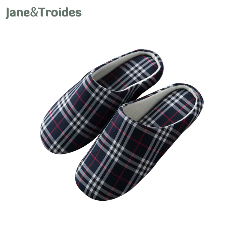 Spring Autumn Home Men Slippers Soft Plaid Casual Comfortable Flip Flops Bedroom Indoor Outdoor Sandals Fashion