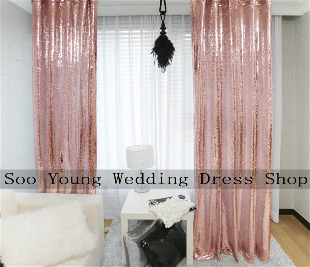 Color booth online - 48 X84 Rose Gold Sequin Backdrop Sequin Photo Curtain Wedding