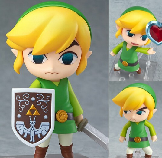 Legend of Zelda Link Nendoroid 413# Link The Wind Waker Ver. 10CM The Legend of Zelda Link Figure Game Legend of Zelda Model  nendoroid the legend of zelda link majora s mask 3d figure with original box