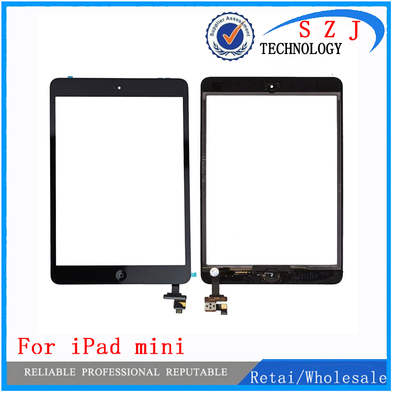 New 7.85'' inch case Digitizer Touch Screen with IC Connector & HOME FLEX Assembly for iPad mini White and Black free shipping new touch panel for ipad air 1 ipad 5 touch screen digitizer flex cable front glass assembly adhesive with home button t0 3